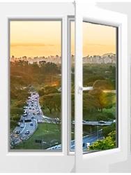 Двухстворчатое окно<br>Rehau Blitz