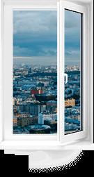 Одностворчатое окно пвх<br>Rehau Intelio